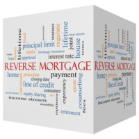 A block that says reverse mortgage