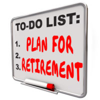 Whiteboard that reads plan for retirement