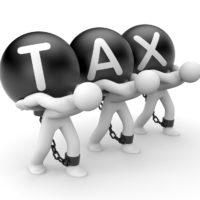 Ball and chain reads tax