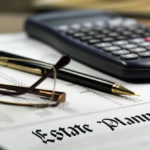 Glasses and estate plan document