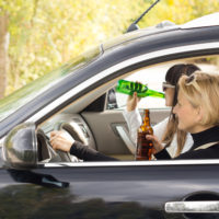 Women drinking behind the wheel
