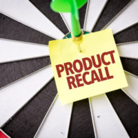 Dart board that reads Product recall