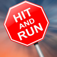 Hit and run stop sign