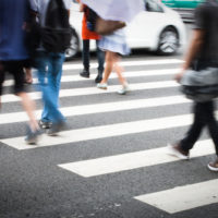 pedestrians walking