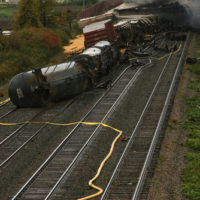 Train crashes