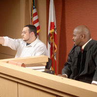 Man is a witness in court