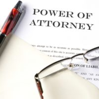 The form for power of attorney