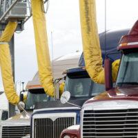 Several trucks