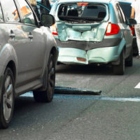group of cars involved in accident