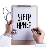 Clipboard that reads sleep apnea