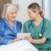 Patient speaking w:Nurse