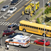 A school bus accident