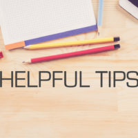 Desk that reads helpful tips