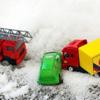 Car hits a truck