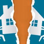 divorced couple splitting assets