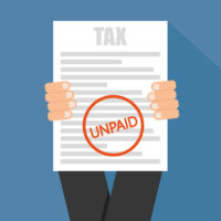 unpaid tax form