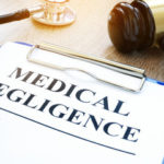 a clickboard that reads medical negligence